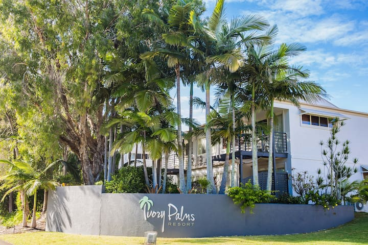 Look out for the main entrance of Ivory Palms resort