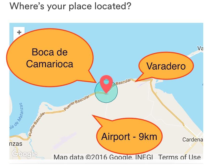 Varadero Corridor - Map location