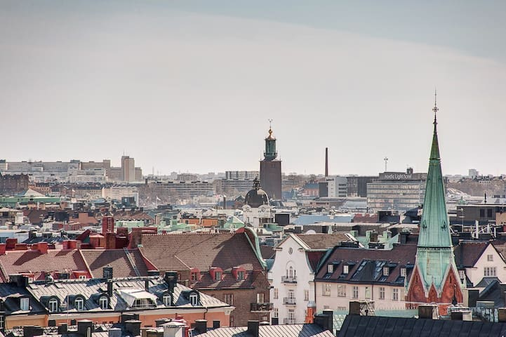 Top floor, Stockholm Skyline view.