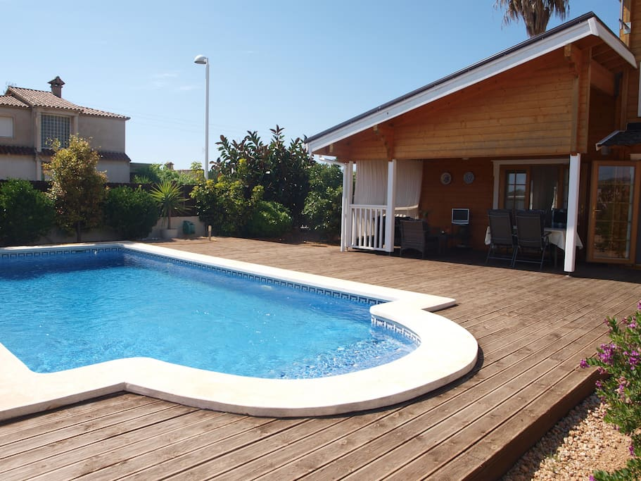 chalet piscina privada 5 min playa chalets en alquiler
