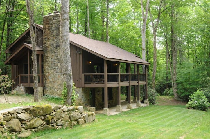 Luxury Lodge Private Waterfall View - Robbinsville - Kabin