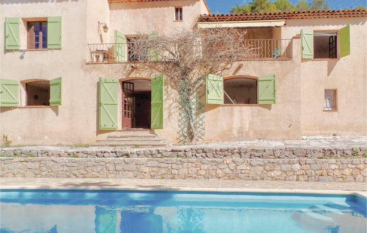 Awesome home in Montauroux with WiFi and 4 Bedrooms