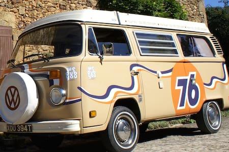Classic VW 1970's Camper Van - Vilobi de Onyar. Girona