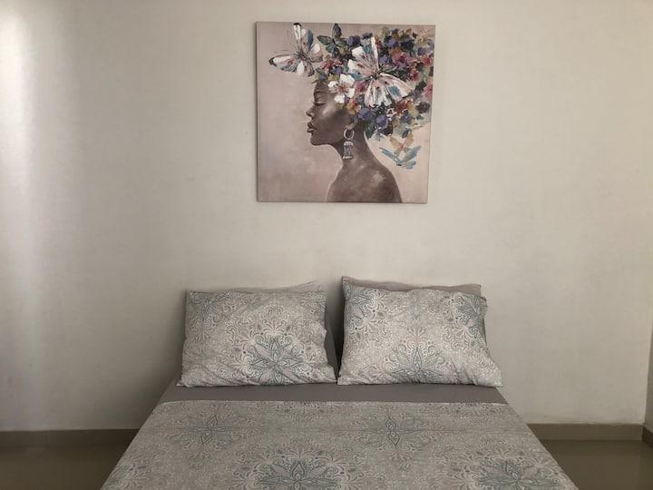 Entire apartment/private entrance/wifi/AC/kitchen