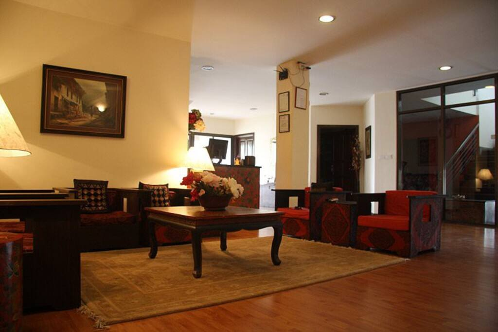 The cosy and quiet lounge where you can put up your feet after a long trek or day out in the hustle and bustle of Kathmandu.