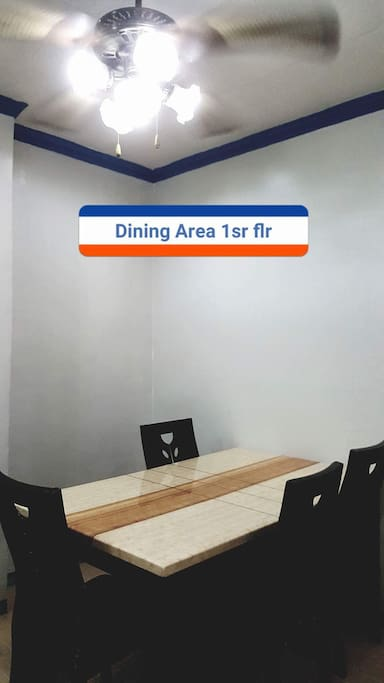 Dining area for the 1st floor exclusive transient house.
