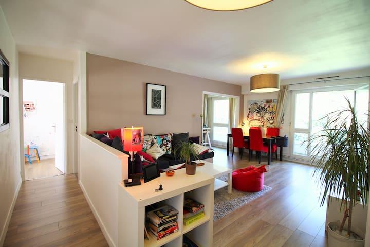 T4 80m² - 20mn du centre ville - Sainte-Luce-sur-Loire - Apartamento