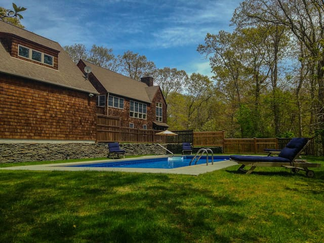 Private Ocean Beach Heated Pool on Secluded Acre