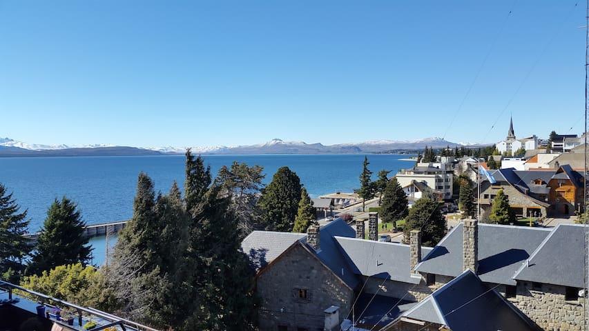 Beautifull flat Lake and City View