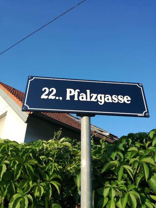 This is our street! It's in Vienna's 22nd district.