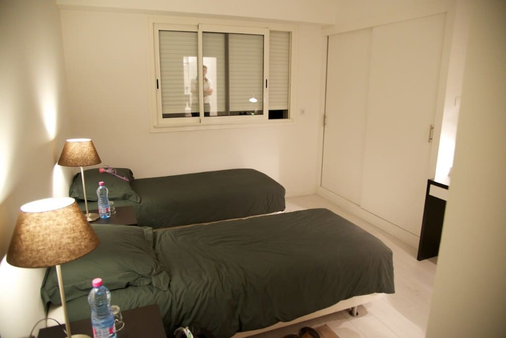One of the three upstairs bedrooms
