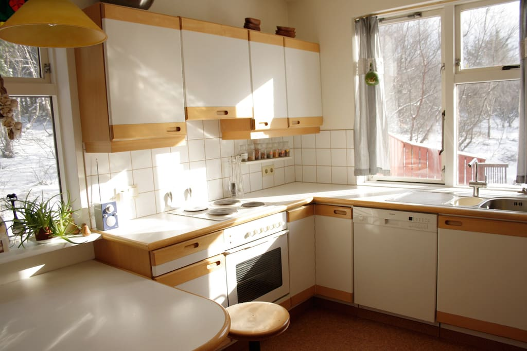 Bright and nice kitchen.
