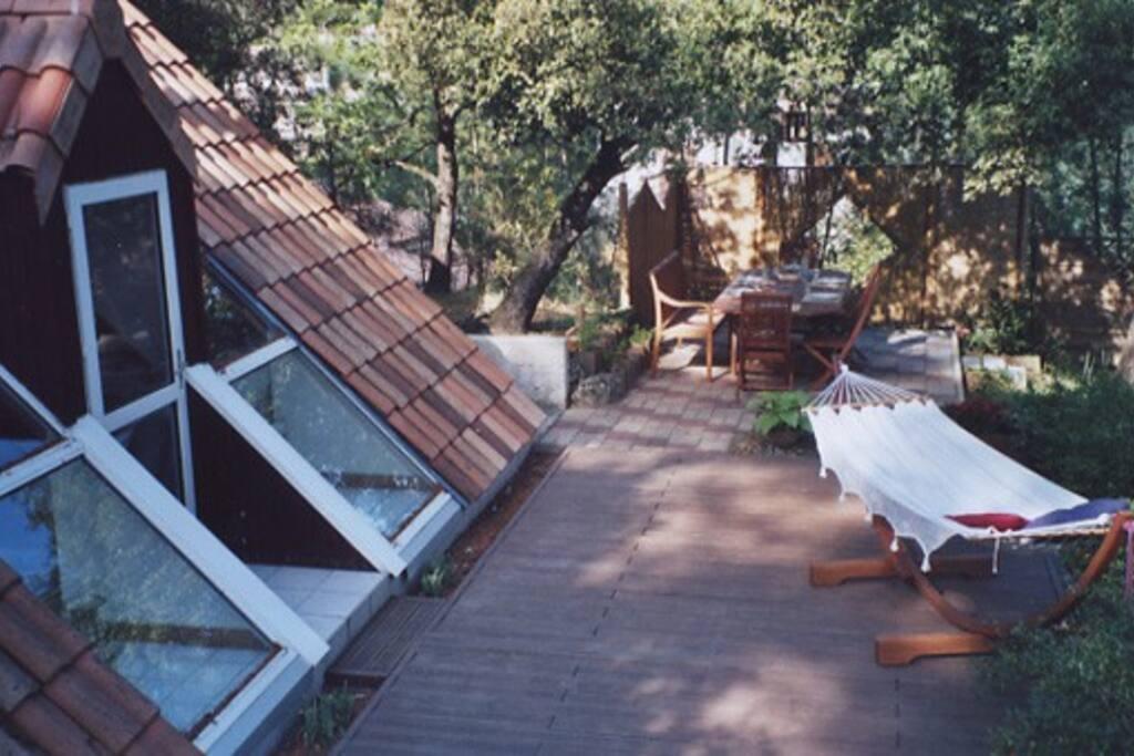Le hamac sur la terrasse pour une petite sieste