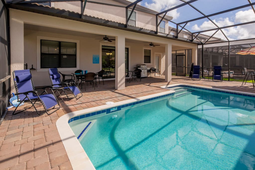 Some guests can find our weather a little too warm! If it gets too hot for you out on the deck or in the pool, sit and cool off for a spell under the shaded lanai - that stays about 10-degrees cooler all day long.
