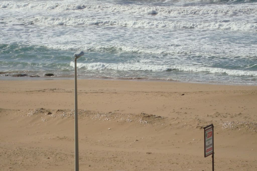 The view of the beach from the front balcony
