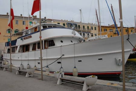 Yacht double bed private room - Isola Sacra - 船