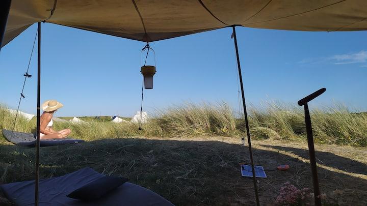 Genieten op Vlieland in klassieke De Waard tent