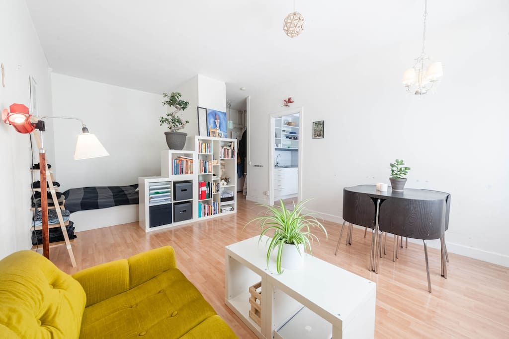 Livingroom and alcove.