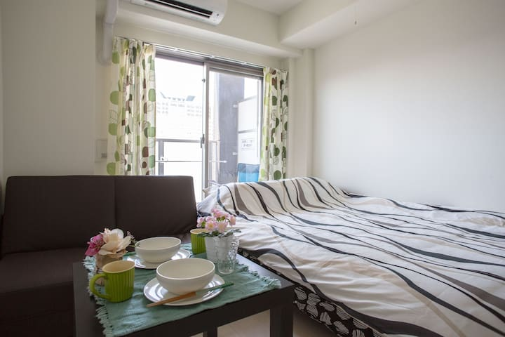 4PPL!!★The Central of Namba★Convenient New room 1