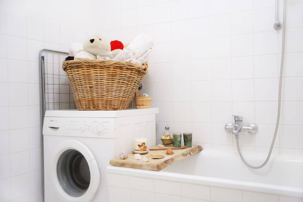 Towels are provided in the basket on the washing machine and usually, you'd also find a set of candles and incense sticks waiting for you.