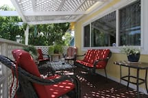 Front porch, perfect for lounging or relaxing....