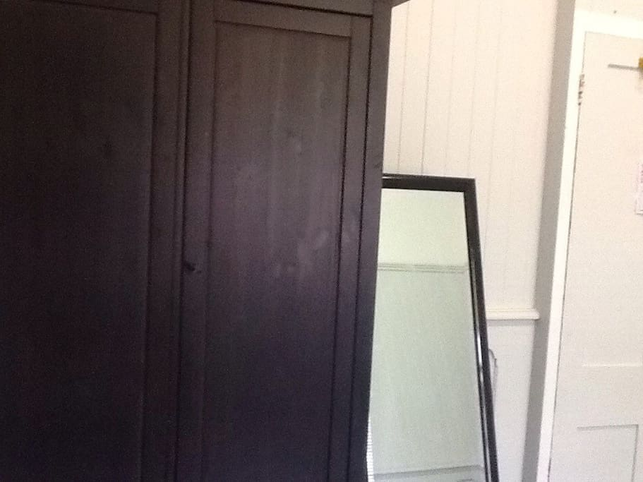 Big wardrobe and mirror