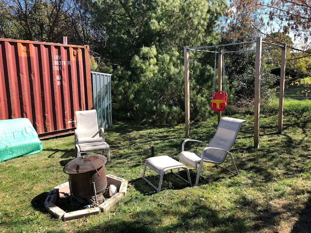 Fire pit & seating - fire only for winter use