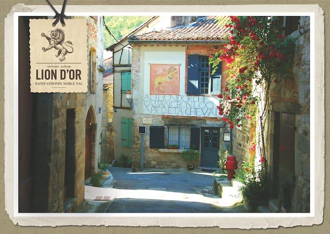 Historic authentic french B&B room3 - Saint-Antonin-Noble-Val - Bed & Breakfast