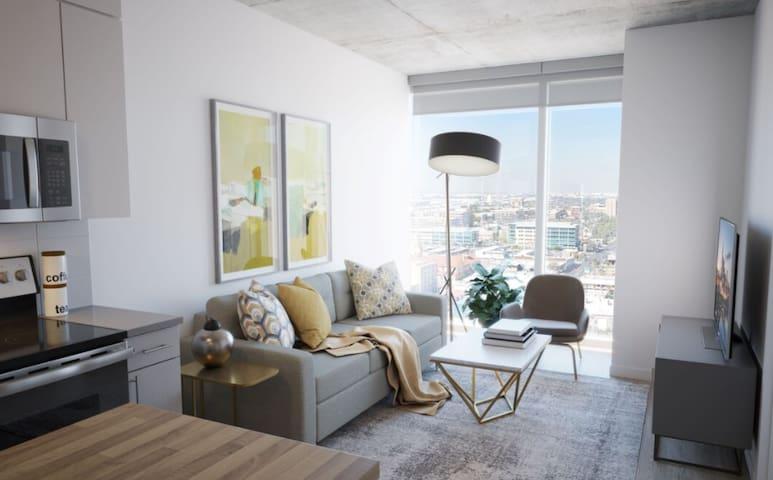 Brand New Modern High Rise Top Floor Great Views!