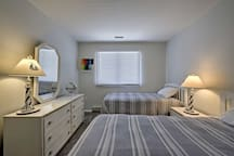 Lie back on the 2 twin beds and get some sleep.