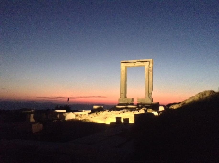 This picture shows the castle gate of Naxos