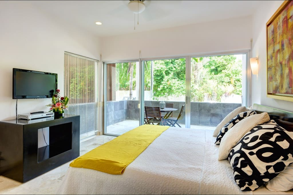 Master bedroom with large balcony