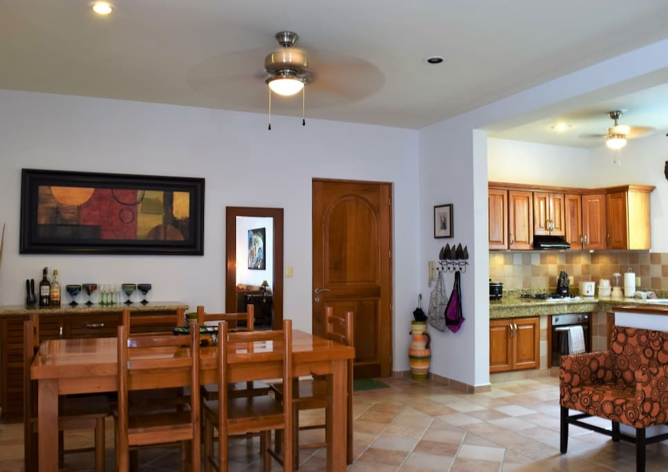 dining area and fully equipped open kitchen