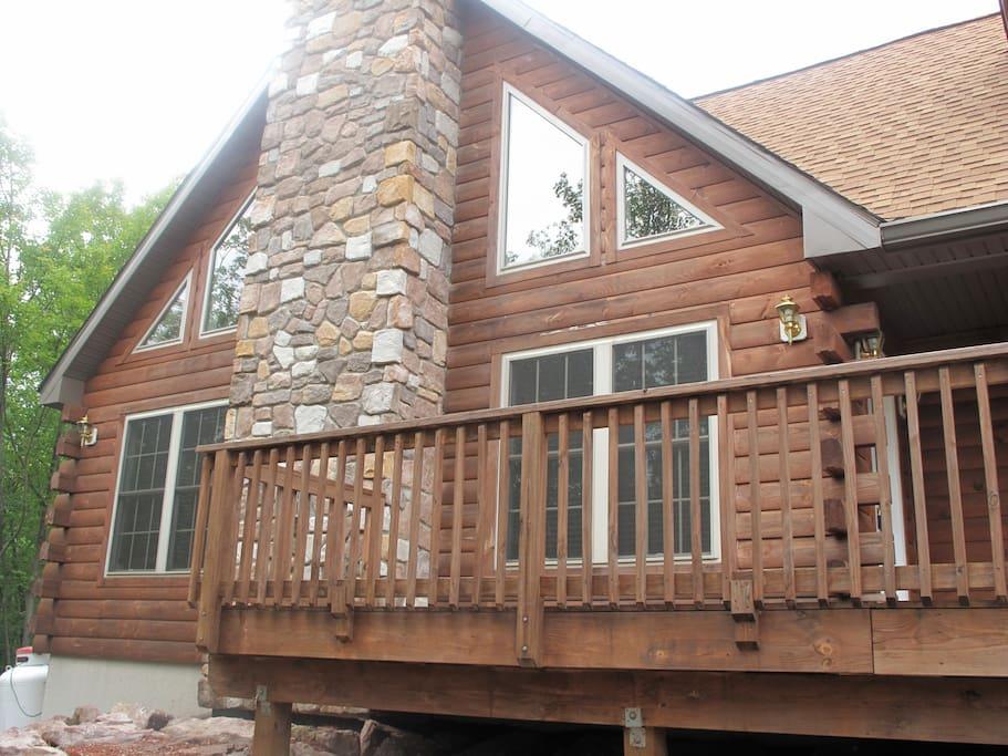 Wood log home