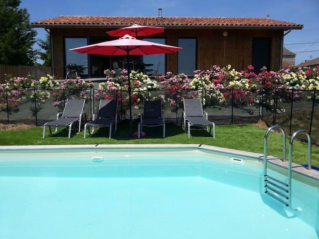 Moderne jacuzzi piscine privée 2ch - Ribagnac - House