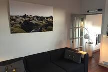 Heerlijke loungebank in de woonkamer