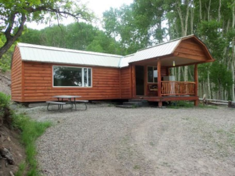 log cabin on a private lake cabins for rent in blanding