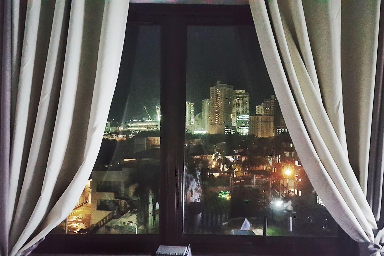 Relaxing Night window view