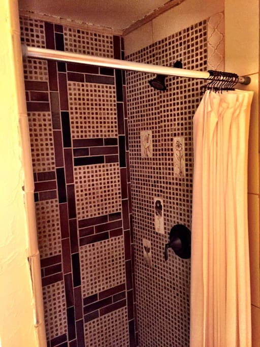 One of two shared bathrooms