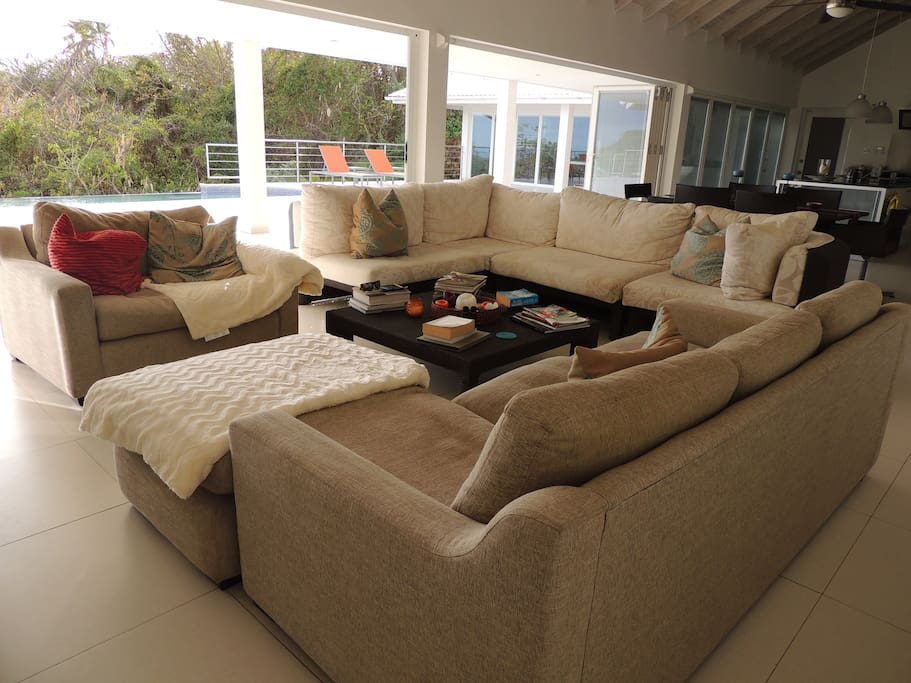Chill out on the very comfy sofas