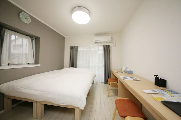 ◆TOHO HOTEL HAKATA1|Free WiFi|Double bed【15】