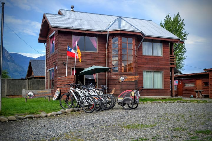 4bed shared Indoor Camping in Pucón