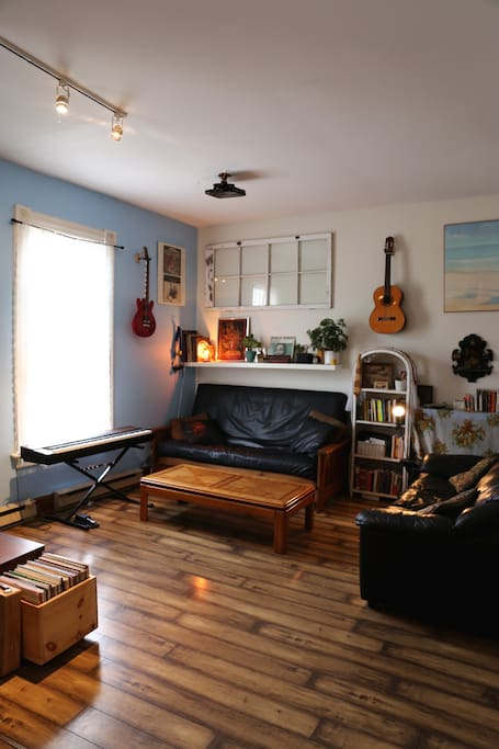View of living room from entrance.