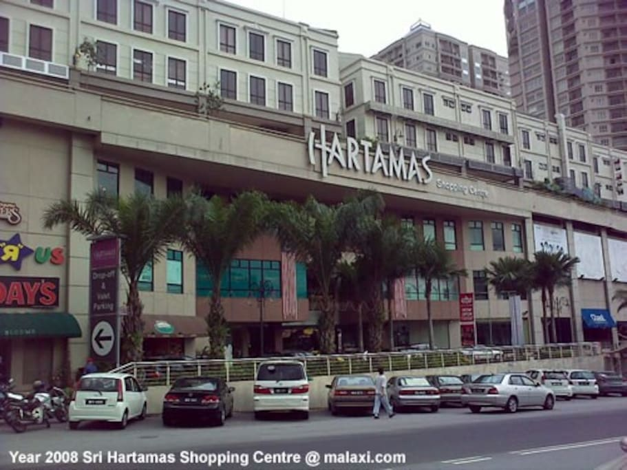 Hartamas Shopping Center is just opposite the place with taxi & bus stand.