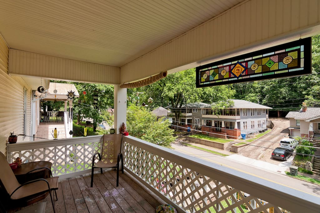 Our Porch is fantastic for watching the town go by and enjoying a morning coffee or evening cocktail.