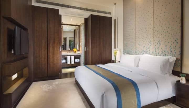 黄山悦榕庄产权别墅,舒适的二层楼联排,私密性好,适宜度假放松!