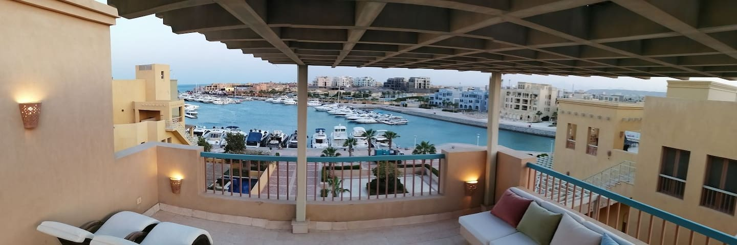 El Gouna New Marina  top floor with panoramic view