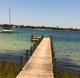 Home with dock -5 min. to beaches - 華爾頓堡灘(Fort Walton Beach)