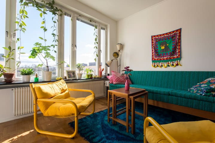Colorful apartment in vibrant area - Stockholm - Appartement