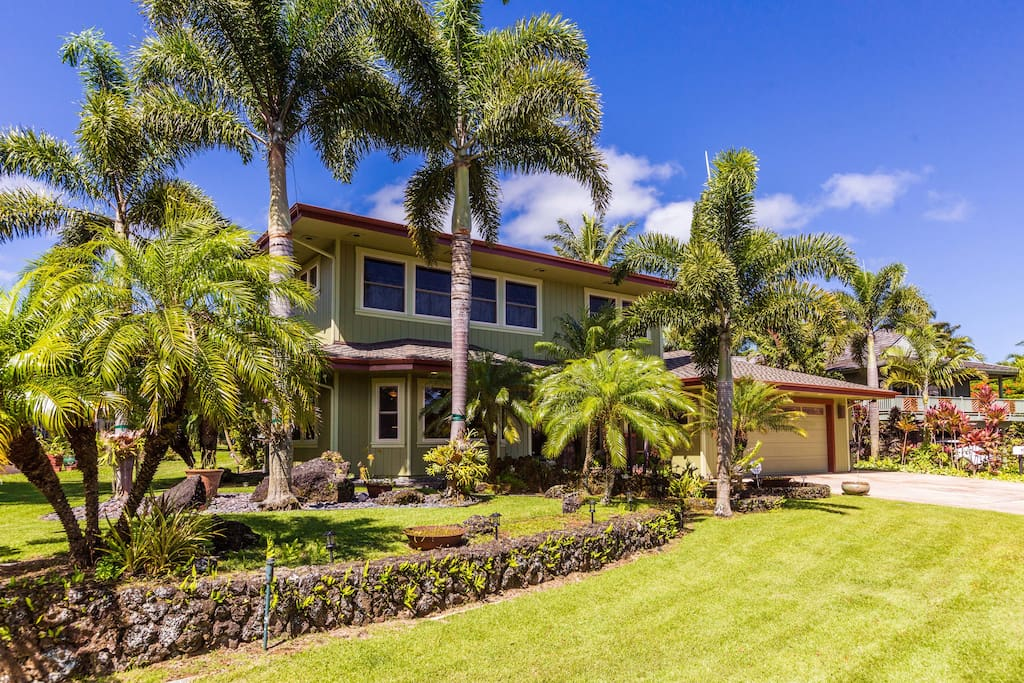 5 bedroom house w heated salt water pool and ac houses for rent in princeville hawaii united for Water softener for 4 bedroom house